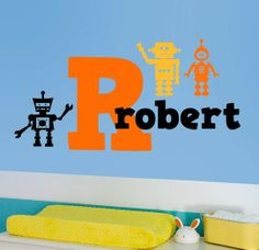 Personalized Robots Wall Decal