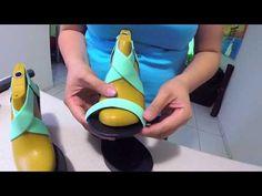 Sandalias decoradas con piedras. si no te gusta la pata de gallo esta es una buena opción - YouTube