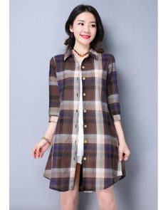 AB75133 Checker Long Top Brown Market Price: £ 18.43 Price: £ 9.30 Registered users: £ 9.30 Weight: 300g more: http://www.zafirah7.com/goods-16141-AB75133+Checker+Long+Top+Brown.html