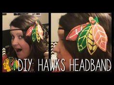DIY #Chicago #Blackhawks Headband Tutorial | Super easy! #GoHawks | Make It Mondays