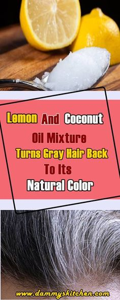 Lemon And Coconut Oil Mixture Turns Gray Hair Back To Its Natural Color - Salute Coconut Oil Hair Treatment, Coconut Oil Hair Growth, Coconut Oil Hair Mask, Baking Soda For Hair, Baking Soda Shampoo, Baking Soda Uses, Dry Shampoo, Clarifying Shampoo, Hair Shampoo