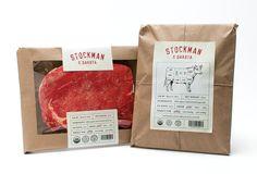 Stockman & Dakota Beef Rebrand by Gabby Nguyen #packaging #design