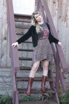 #boho #70s #bandtee #rollingstones #boots