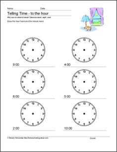 9 Creative Ideas for Teaching a Child to Tell Time: Telling Time Worksheets