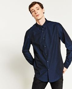 Image 4 of SLIM FIT PRINTED SHIRT from Zara