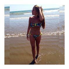 @blancaalgaba wearing a #tropical #bikini designed by her! Design your own custom bikini with #surania www.surania.com