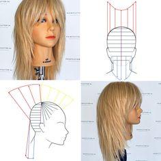 Creative Hairstyles, Diy Hairstyles, Pretty Hairstyles, Simply Hairstyles, Long Hair Cuts, Wavy Hair, New Hair, Hair Cutting Techniques, Diy Haircut