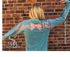 Comfort Color Southern Made Long Sleeve T by SouthernMadeShirts - in watermelon!