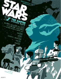 Star Wars Episode V: The Empire Strikes Back by Tom Whalen... Judge Me By My Size Do You?