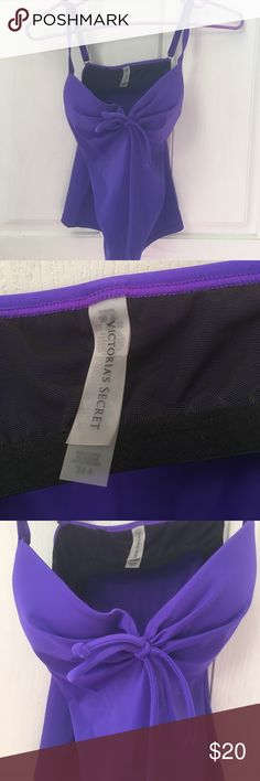 Victoria Secret tankini swim suit Brand new without tags (because online ships them in bags) purple Victoria Secret tankini top.  Padded push up.  Removable padding.  Underwire.  Size 34a. Adjustable straps Victoria's Secret Swim