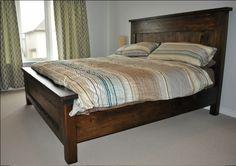 King Farmhouse bed Walnut Stain