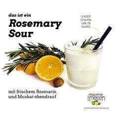 Das ist der Rosemary Sour von freilaufende Limetten.