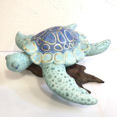 Our Beautiful Handcrafted Turtle - Avaliable at Artissimo Ceramic Studio, Turtle, Dinosaur Stuffed Animal, Pottery, Ceramics, Sculpture, Animals, Beautiful, Pottery Studio