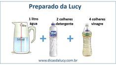 lavar a casa com um litro de água