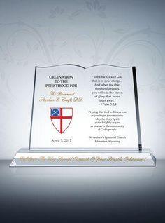 Episcopal Ordination Gift Plaques - DIY Awards Mobile