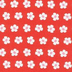METRÁŽ | Bavlna | RKF/Whatever the Weather - BAVLNA - Drobné květinky ČERVENÉ/CHERRY | U Melluzínky- Látky plné radosti