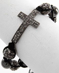 shambala side way cross bracelet adjustable ART HOUSE design $0 SHIP