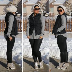 Winter Puffer Vest + Waxed Jeans - Mimi G Style #ootd