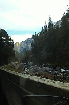 Driving up and down and around the winding roads of Yosemite. everywhere is a mystery.
