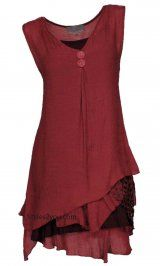 Pretty Angel Clothing Two Piece Knit Top In Dark Red At Styles2you.com