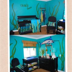 Cash S Ocean Themed Nursery Baby Boy Themes Sea