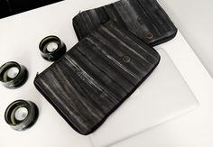 HANDMADE LAPTOP CASES (made from recycled bicycle inner tubes). Very cool!