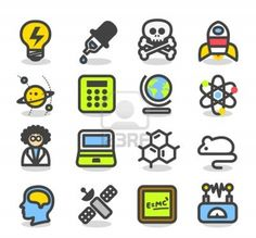 Simple Series - Science icon set Stock Photo