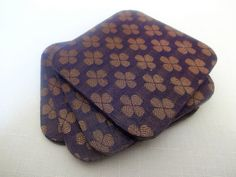 Handmade Decoupaged Wooden Coasters Indian Print by UrbanHand, $15.00