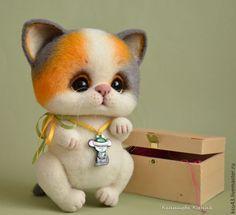 Купить Кошечка Буся - оранжевый, серый, кот, котик, кошка, Кошки, кошечка, котёнок