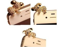 Poposh Koala Bear 3.5mm Crystal Anti Dust Plug Bling Dog Earphone ...