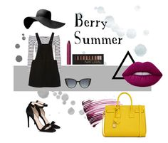 """Berry Summer"" by tizocaspp ❤ liked on Polyvore featuring Yves Saint Laurent, Forever 21, Lime Crime, tarte, STELLA McCARTNEY, Fendi, Topshop, Monki, chic and swag"