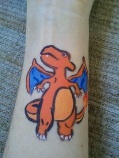 #006 Charizard - Pokemon Face Paint