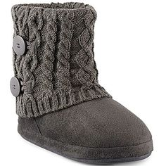 Mixit® Booties, Cable Knit Boot Slippers - jcpenney
