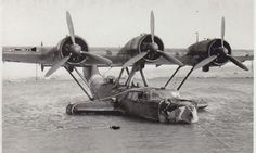 A Dornier Do 24 seaplane 6. Seenotstaffel in the harbour of Patras, after a collision with a fishing boat; note the heavy damages to the nose and to left wing leading ledge. Photo's date likely 1942, when a detachment of this Luftwaffe's rescue unit was re-deployed in Greece.