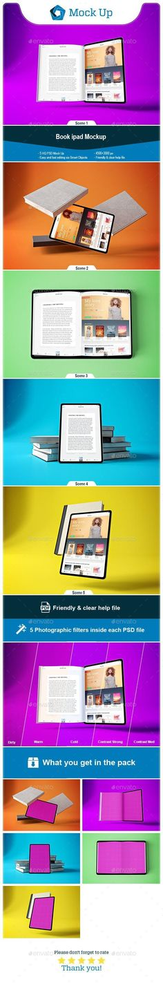 Buy Book Tablet Pro by QalebStudio on GraphicRiver. Book App Mockup that can present Responsive devices that you can use for your design, suitable for brands and consist. Graphic Design Templates, Print Templates, Psd Templates, Display Mockup, Friday Motivation, Beauty Photos, Books To Buy, Best Graphics, User Interface