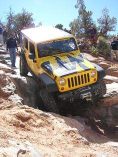 Jeep JK. Heading down hill....