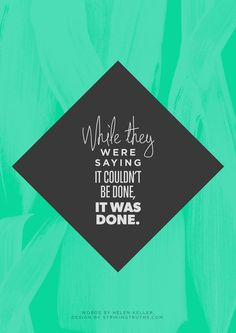While they were saying it couldn't be done, it was done. #entrepreneur #entrepreneurshpi