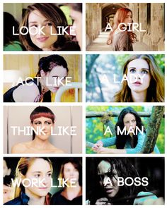 Clary Fray, Isabelle Lightwood, Johanna Mason, Tris Prior, Katniss Everdeen