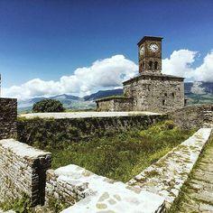 Clock tower at Gjirokastër Castle . . . #beauty_of_albania #albania #shqiperia #architecture #archilovers #gjirokastra #gjirokaster #castle #walls #europe #ig_europe #traveleurope #travel #tourist #tourism #investinalbania #invest #visitalbania #visit #explore #coloursofalbania #colorsofalbania #vision #balkan #photo #photography #photooftheday #radesigner #x