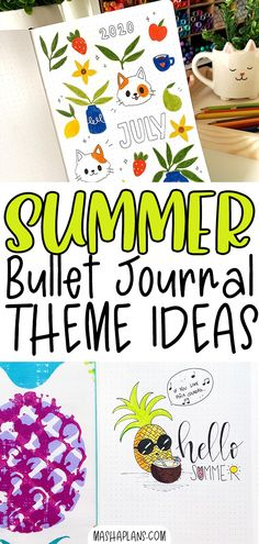 Are you struggling to find a theme for your Summer Bullet Journal pages? Here is an ultimate list of Bullet Journal ideas to experiment with this Summer. I also included lots of Bullet Journal inspirations from amazing artists from all over Instagram. What theme are you choosing for your BuJo this month? Bullet Journal Themes, Bullet Journal Inspiration, Journal Pages, Journal Ideas, Summer Fun, Experiment, Bujo, Journaling, Artists