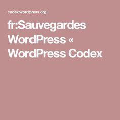 fr:Sauvegardes WordPress « WordPress Codex