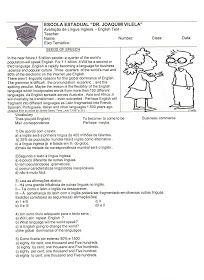 Avaliacoes De Ingles 2 Ingleses Prova De Ingles Atividades