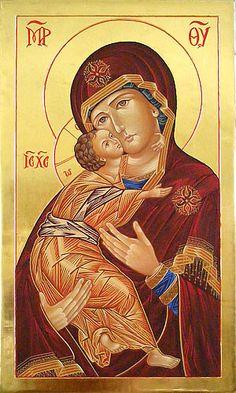 Icons - Blessed Virgin Mary - The Studio of John the Baptist : sacredart.co.nz