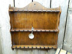 Vintage Wood Collector Spoon Wall Display Rack by allthatsvintage56 on Etsy