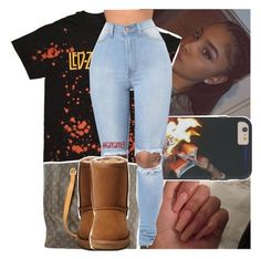 """ugg weather.."" by lamamig ❤ liked on Polyvore featuring Louis Vuitton and UGG Australia"