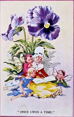March House Books Blog: Once upon a time; Postcards from my collection. Rene Cloke fairy children.