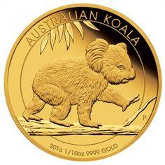 15 Dollar Gold Koala 1/10 Oz Gold 2016 PP