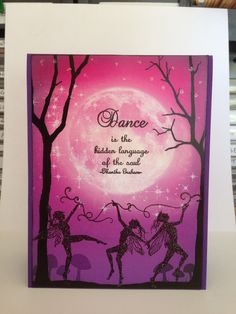 Featuring Lavinia Stamps' Scene-Scapes card background Pink Equinox SKU 590859, and Dancing Till Dawn SKU 768098, available at www.addictedtorubberstamps.com   Card creator unknown.