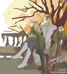 sigun-i-loki:  Thranduil and young Legolas by kagalin.