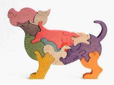 チワワの十二支 木のおもちゃ杢・MOKU